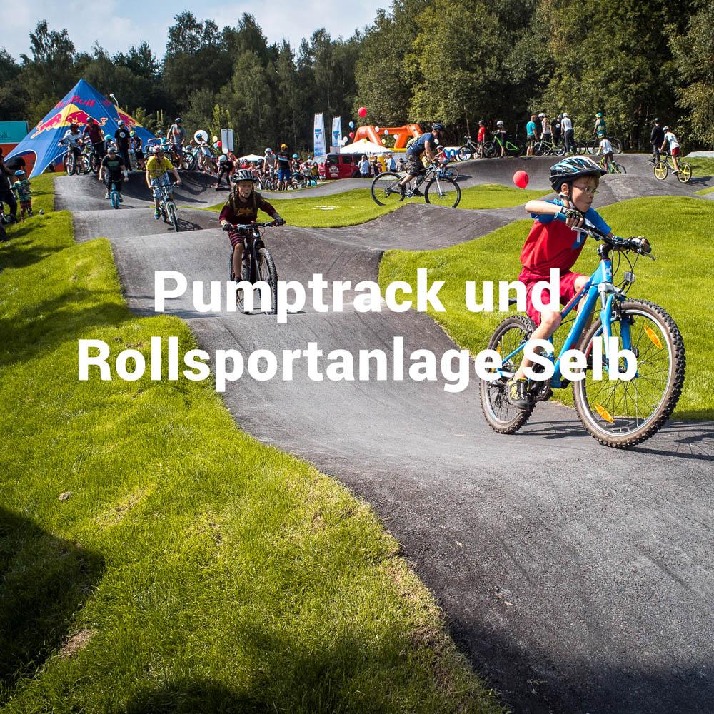 Pumptrack und Rollsportanlage in Selb, geplant und gebaut durch die Firma RadQuartier