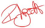 Unterschrift des Geschäftsführers der Firma Radquartier.