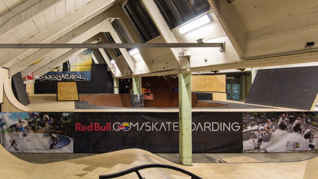 Nebenhalle in der Extremsporthalle - Radquartier.